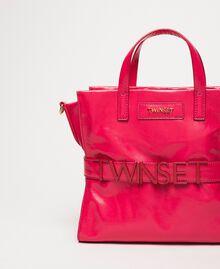 Cabas moyen en cuir avec logo Rose «Jazz» Femme 201TO8091-03