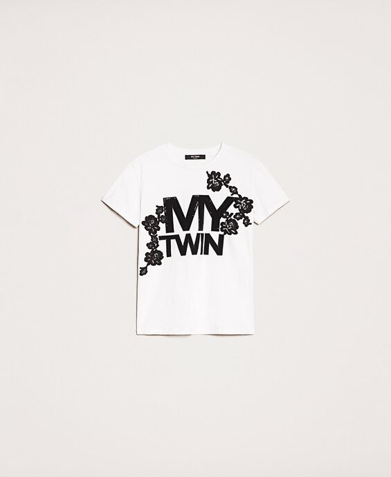 T-shirt avec logo et broderie