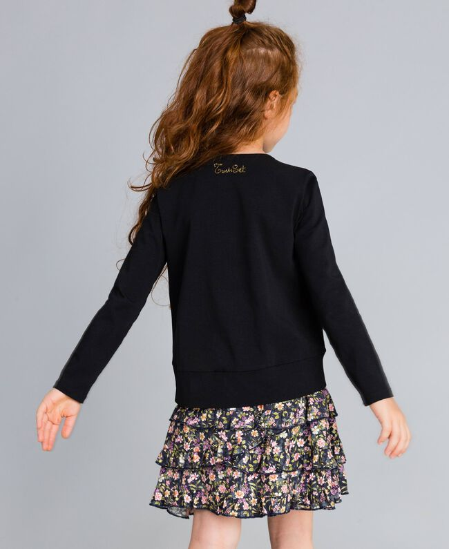Printed viscose full skirt Micro Flower Print Child GA82TA-03