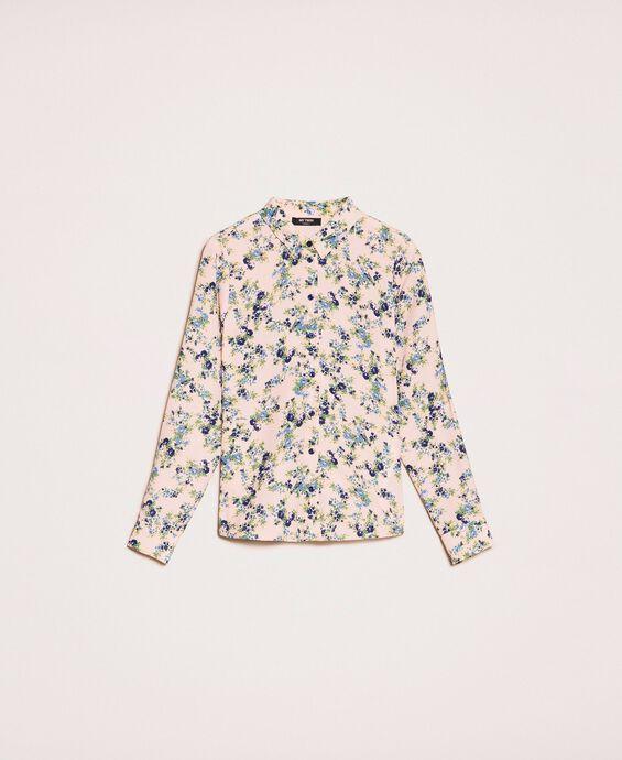 Floral crêpe de Chine shirt