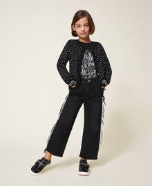 T-shirt with graphic pattern print Two-tone Black / Gothic Print Child 202GJ2354-0T