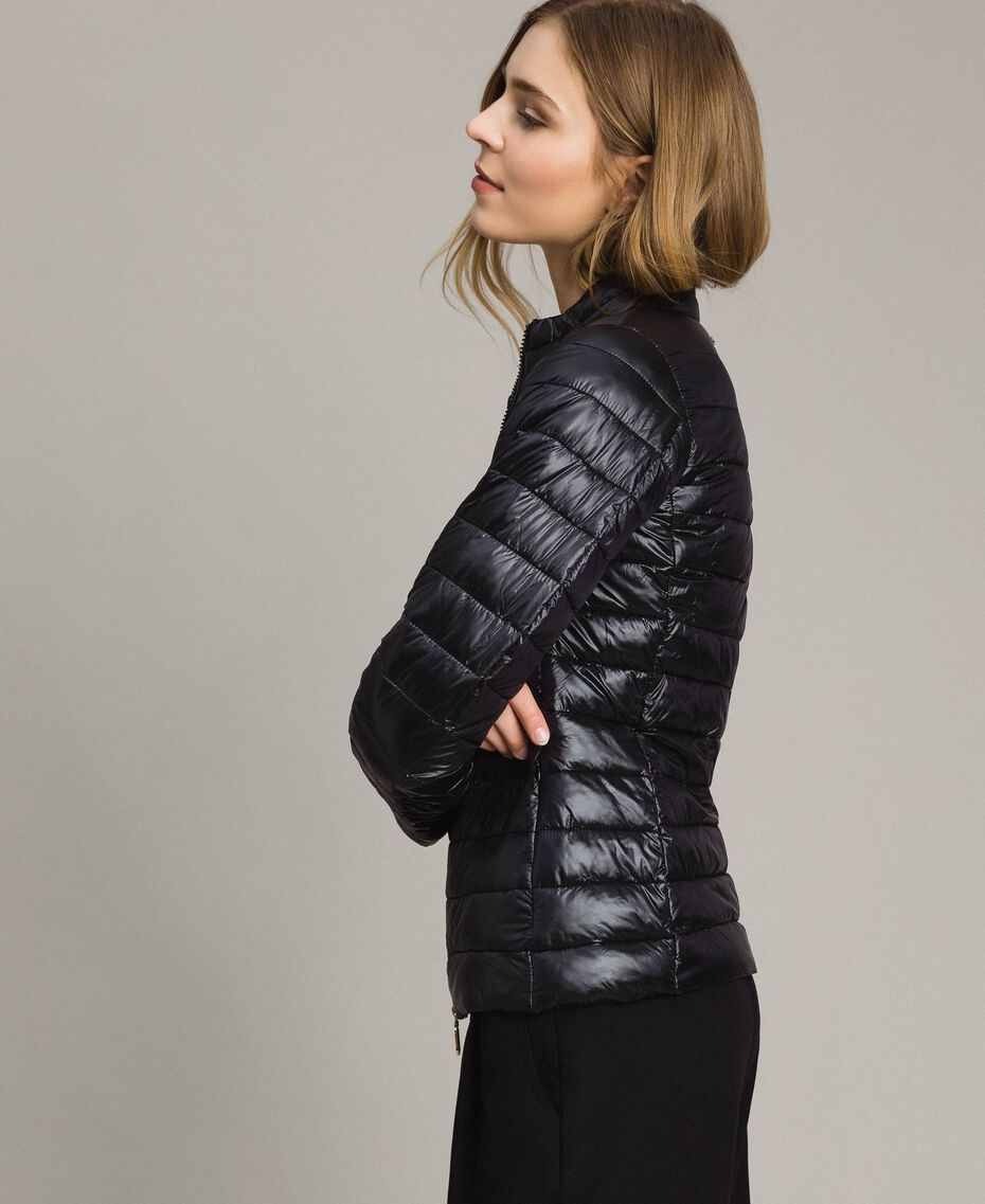Quilted puffer jacket Black Woman 191LL24CC-02