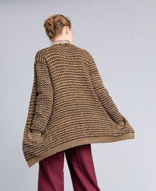 Jacquard lurex cardigan Camel Gold Lurex Jacquard Woman PA835B-03