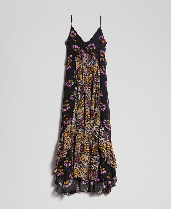Robe nuisette avec imprimés floraux