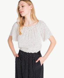 Polka dot dress Black Polka Dot Print / Ivory Polka Dot Print Woman PS82MN-04