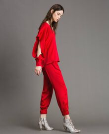 "Drawstring jogging trousers ""Ruby"" Red Woman 191TP2692-02"