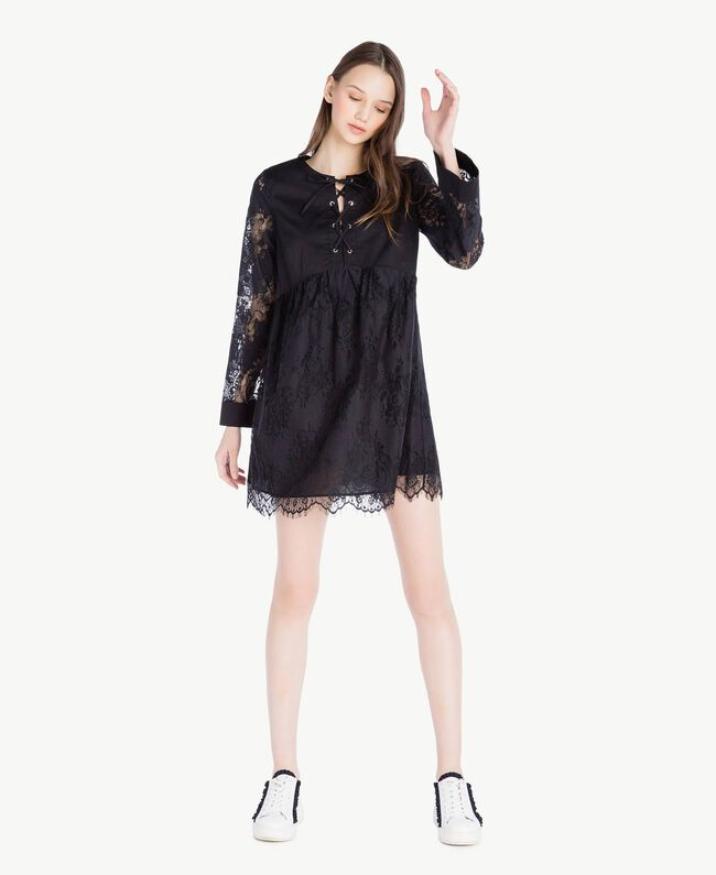 Lace dress Black Woman SS82J5-01