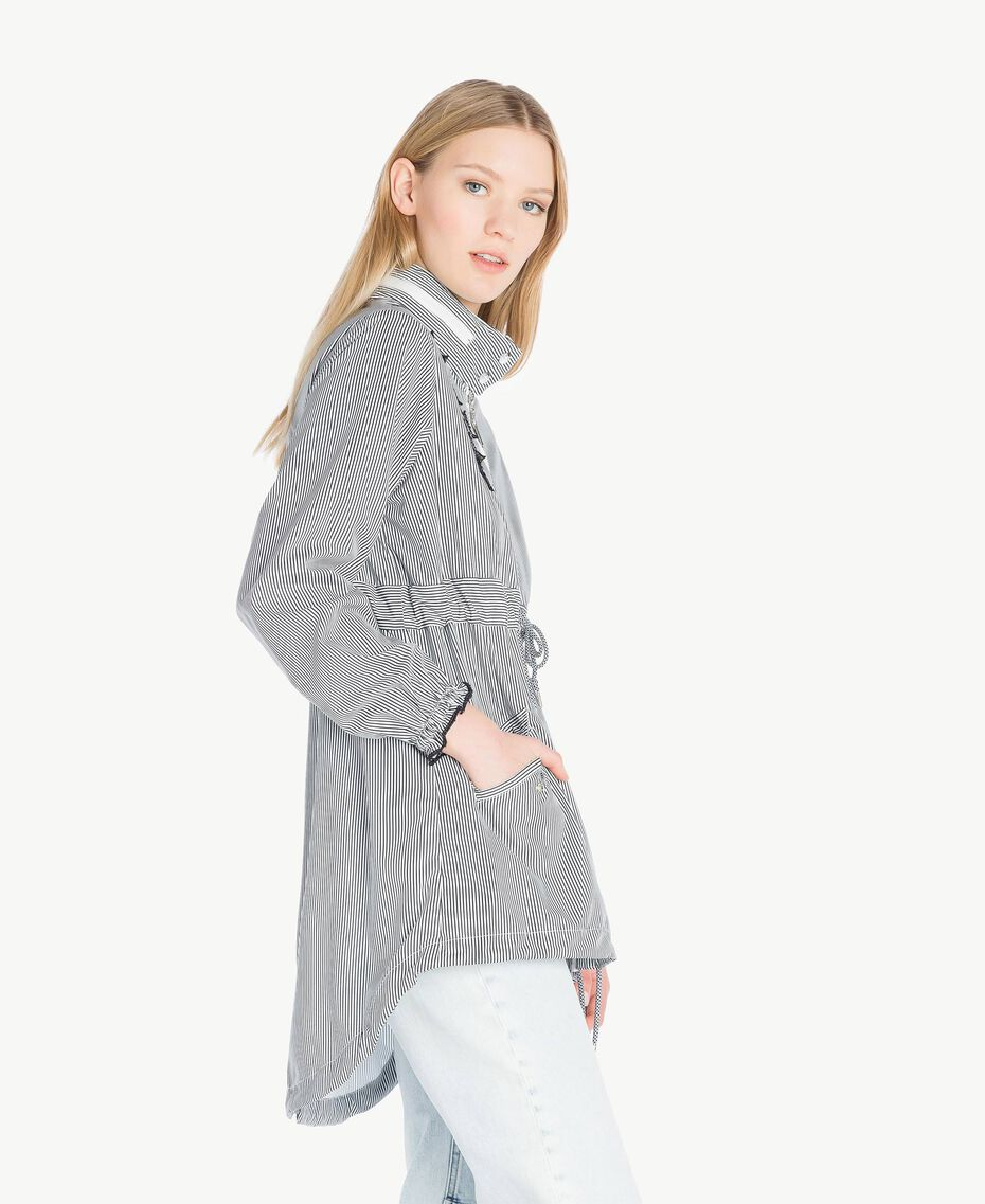Star parka Optical White Stripe / Black Woman JS82B2-02