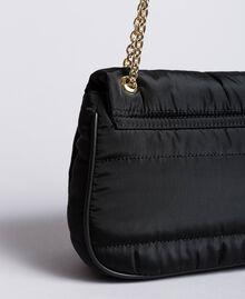 Tracolla in nylon con catena e charms Nero Donna AA8PFC-03