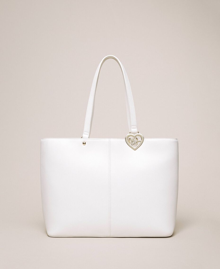 Faux leather shopper with scarf Lily Woman 201MA7080-02