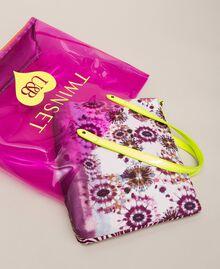 Beach bag with pochette Flirty Rose Multicolour Print Woman 201LB7GTT-01