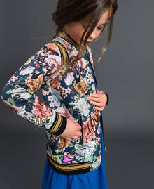 Scuba bomber jackets with floral and graffiti print Graffiti Print Child 192GJ2493-01