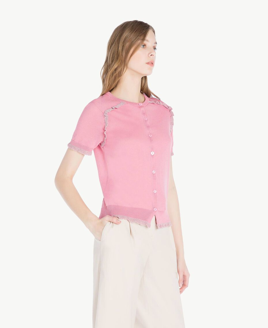 Gilet lurex Rose «Hortensia» Foncé Femme TS8345-02
