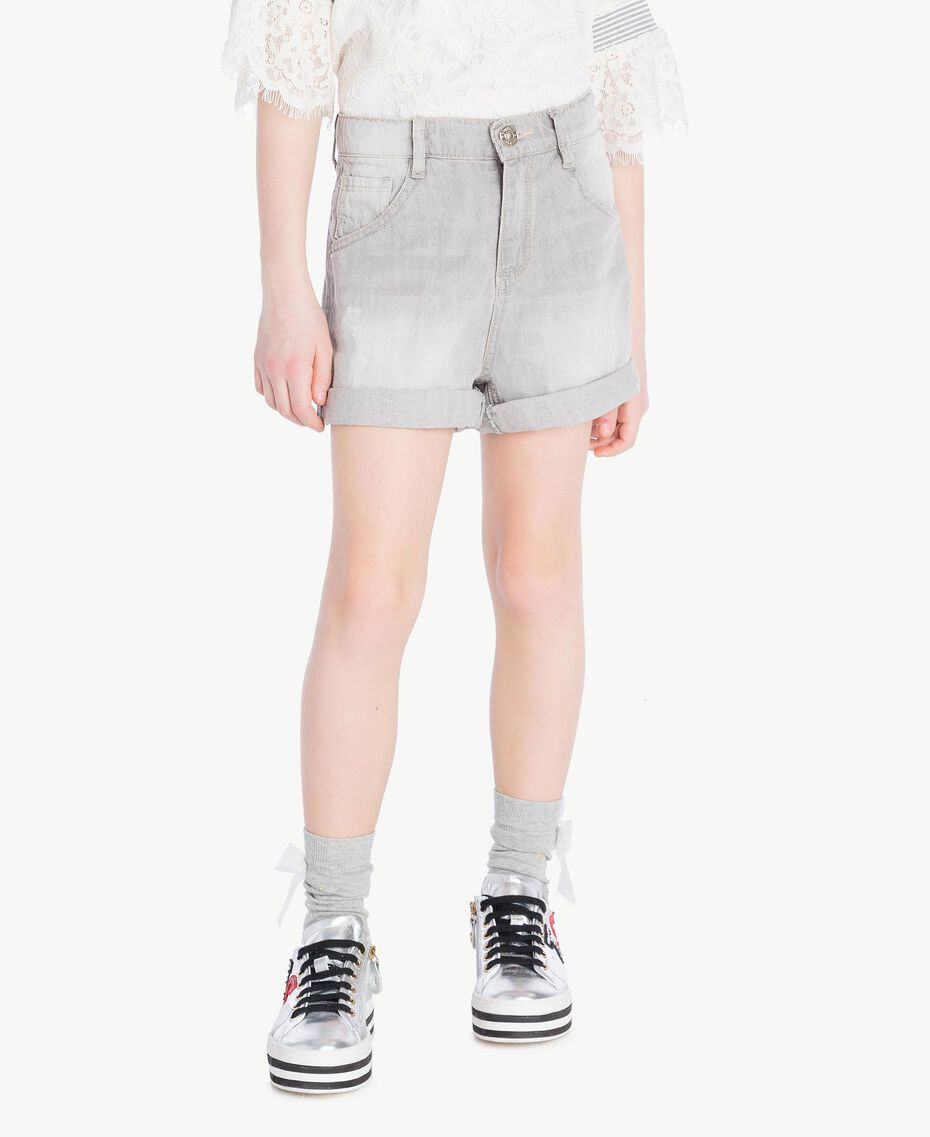 Denim shorts Light Grey Denim Child GS82FN-02