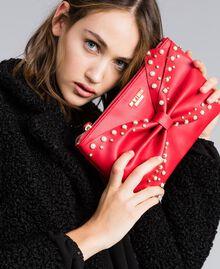 Pochette en similicuir avec nœud Rouge Coquelicot Femme VA8PB5-0S