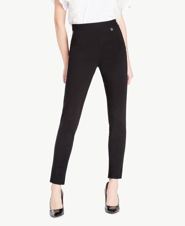 Zipped leggings Black Woman JS82FE-01