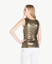 Laminated tank top Green Stone Woman YS821B-03
