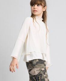 Blusa in georgette Chantilly Bambina 192GJ2351-02