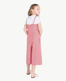 Gingham jumpsuit Gingham / Pomegranate Red Jacquard Child GS82ZD-04