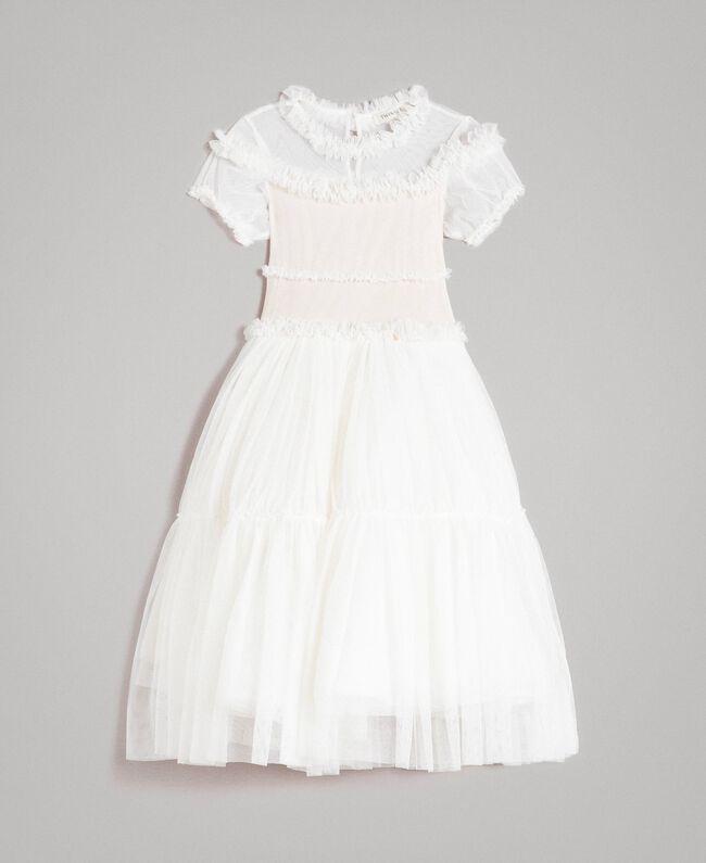 Tulle long dress Pale Cream Child 191GJ2Q20-01
