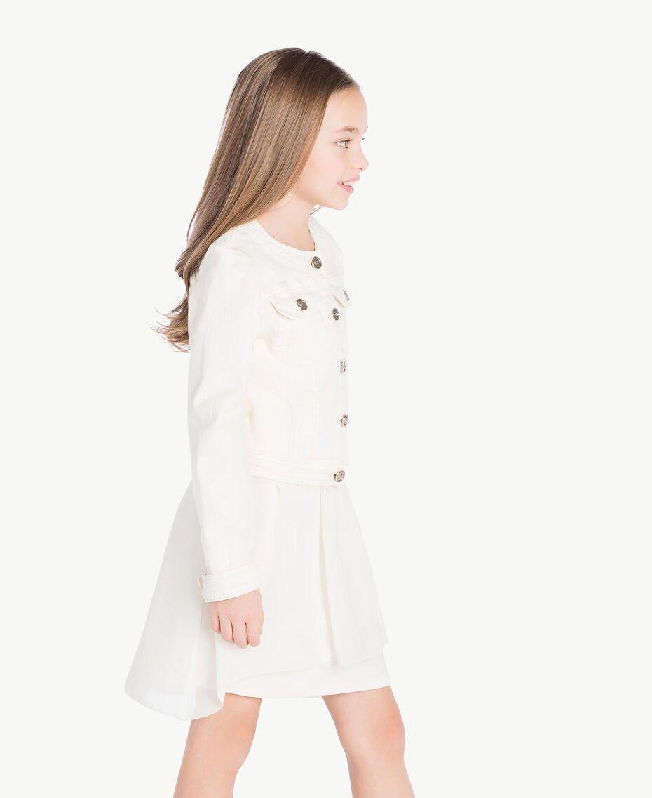 Mandarin collar jacket Pale Cream Child GS82CN-03
