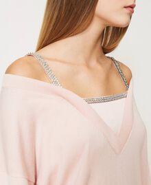 Maglia con spalline gioiello Rosa Chiaro Donna 211TQ301B-05