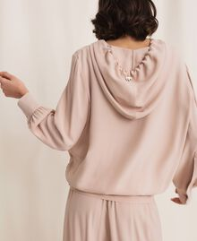 Georgette hoodie Moonlight Beige Woman 201LL2NFF-04