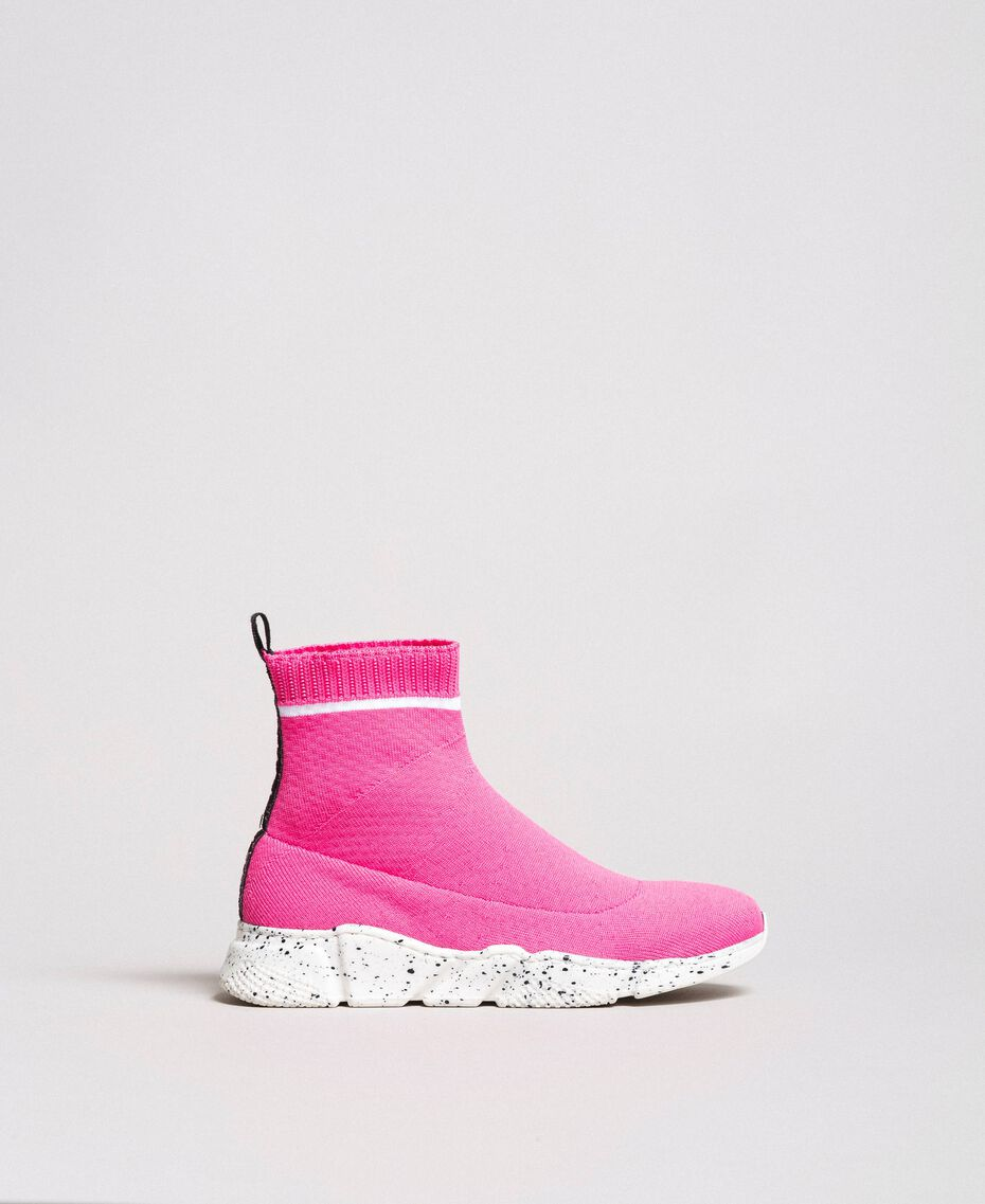 """Stretch knit sneakers """"Crystal Pink"""" Child 191GCJ010-02"""