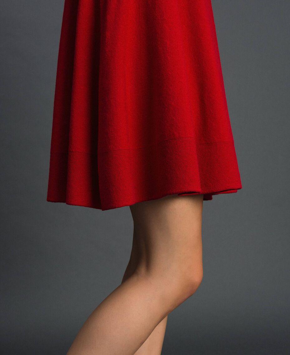 Abito a corolla in maglia Rosso Veneziano Donna 192TT3281-05