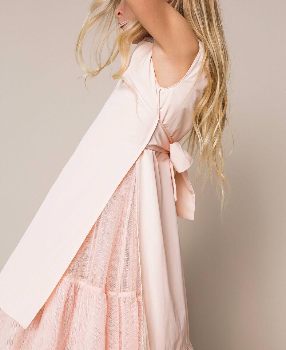 Taffeta and tulle dress Bud Pink Child 201GJ2Q20-01