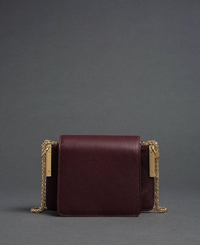 Petit sac à bandoulière Bea en cuir Rouge Betterave Femme 192TA7021-04