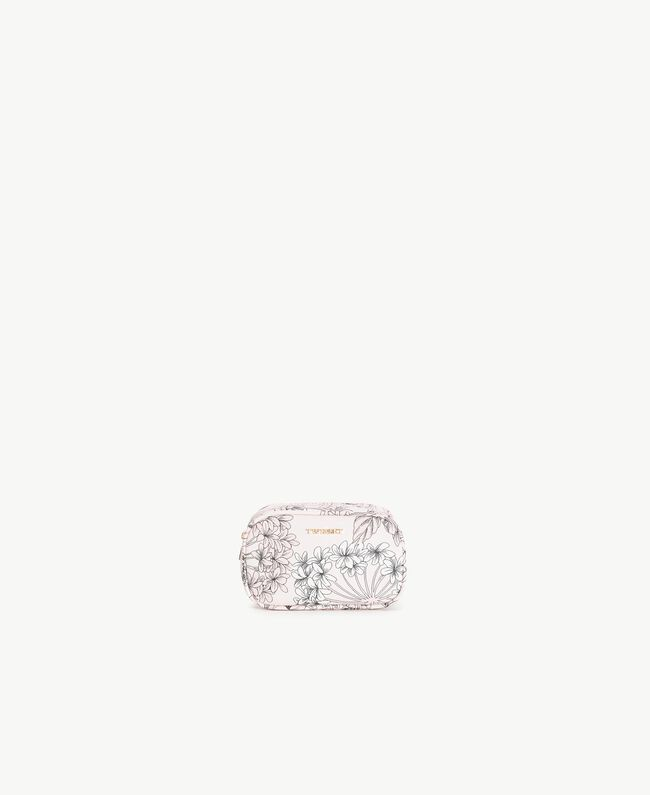 "Beautycase mit Print Makroblumenprint ""Pinkie Sugar"" Frau LS8DCC-01"