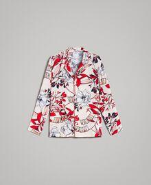 Floral print crêpe shirt Exotic Ecru Print Woman 191ST2230-0S