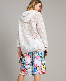 Lace maxi sweatshirt with logo and embroideries White Woman 191MT2241-04