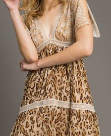 "Animal print long dress ""Petra Sandstone"" Brown Animal Print Woman 191LM2UGG-05"