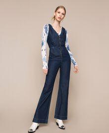 Denim jumpsuit with zip Denim Blue Woman 201MT2196-01