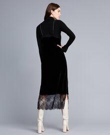 Long velvet dress Black Woman TA826N-03