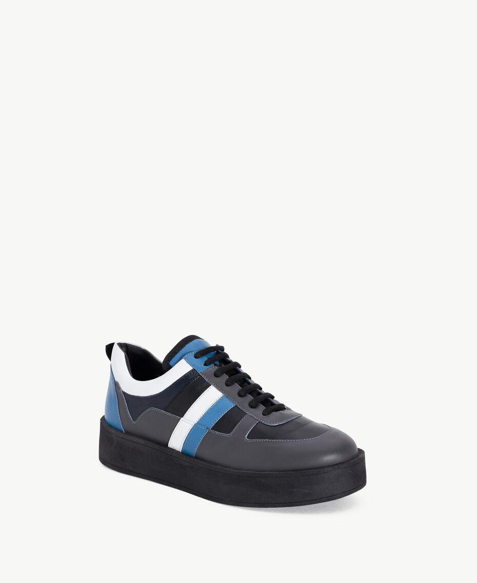 """TWINSET Sneaker color block Grigio / Azzurro """"Anice"""" CA7TJ5-02"""