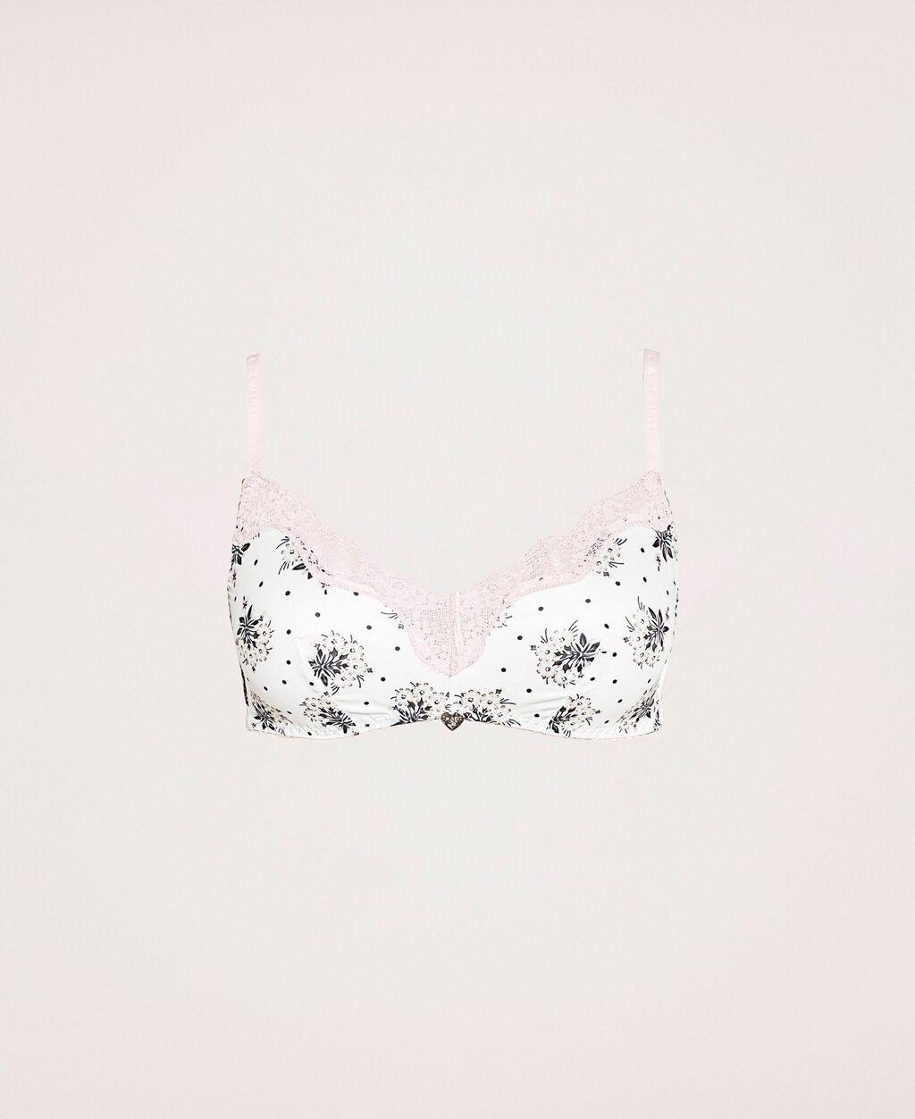 Triangle bra with print