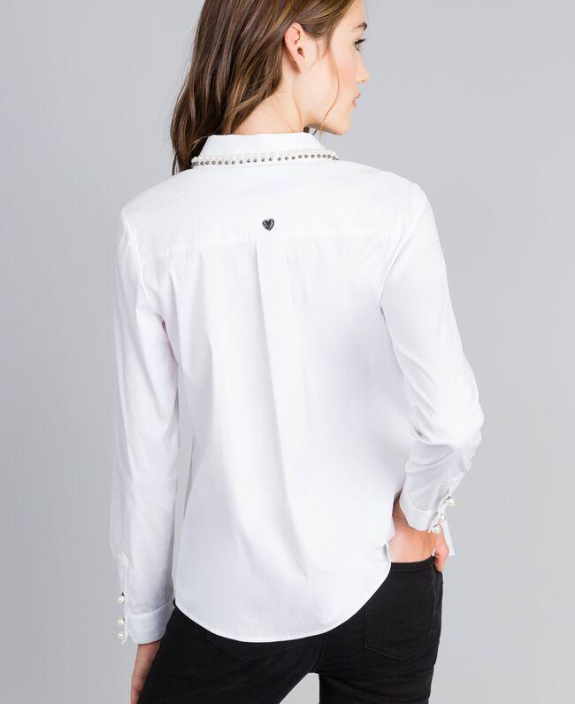 """Hemd aus Stretch-Popeline """"Ice""""-Weiß Frau JA82JB-03"""