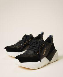 Chaussures de running avec logo Noir Femme 202TCP036-02