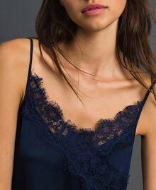 Scalloped lace slip dress Night Blue Woman 192ST2092-04