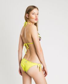 """Thong with little bows and ruffles """"Lemon Juice"""" Yellow Woman 191LBMHQQ-03"""