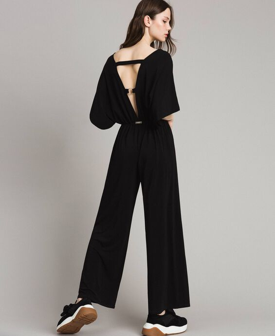 Jumpsuit with palazzo trousers