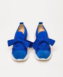 """Textilsneakers mit Knoten """"Hyazinthen""""-Blau Frau 201TCT110-05"""