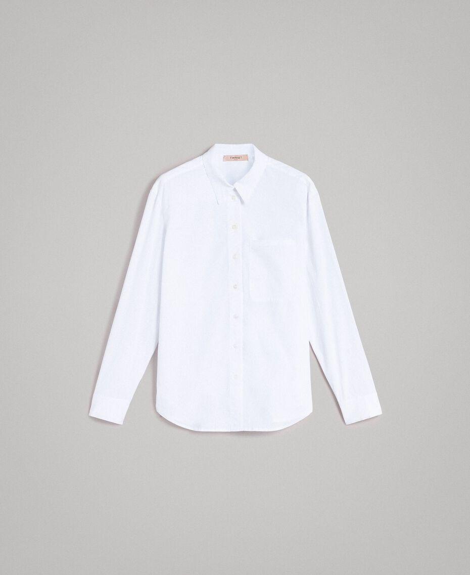 Camicia in popeline Bianco Donna 191TT223D-0S