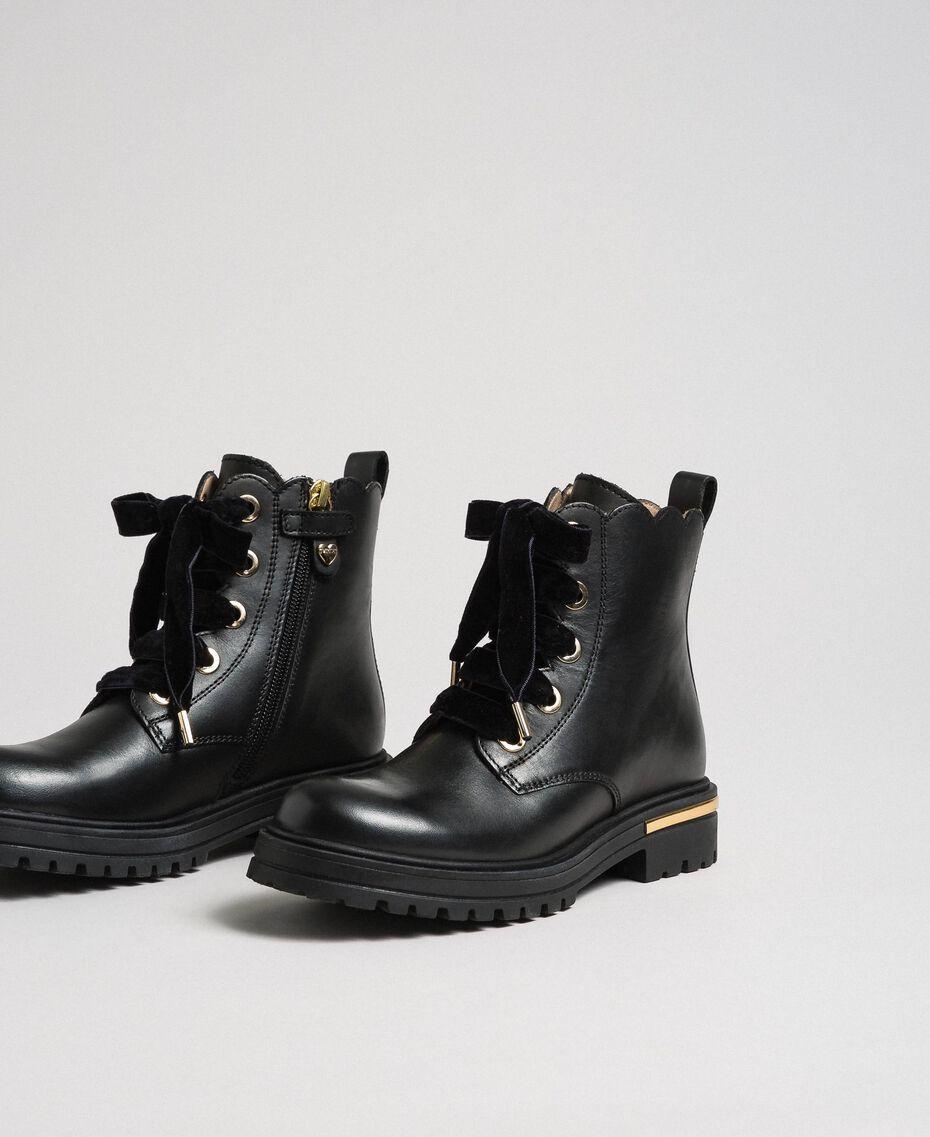 Leather ankle boots Black Child 192GCJ048-01