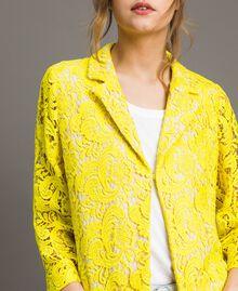 Chaqueta blazer de encaje de macramé Amarillo Fluo Mujer 191MT2150-05