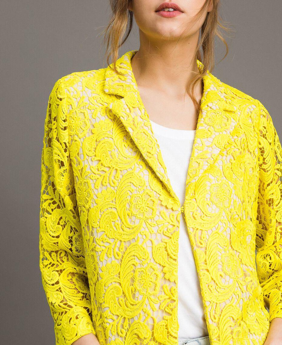 Blazer Jacke mit Makramee-Spitze Neongelb Frau 191MT2150-05