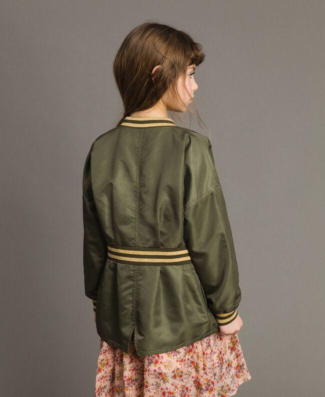 Parka en nylon avec ruchés Vert Toundra Enfant 191GJ2150-03